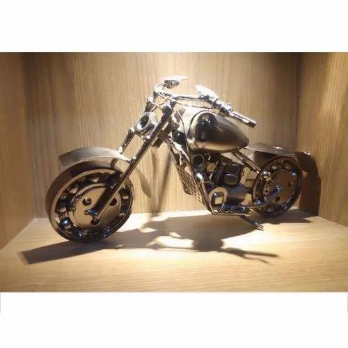 Iron Bike Statue, For Interior Decor