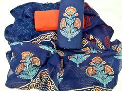 Traditional Hand Block Printed Cotton Dress Material