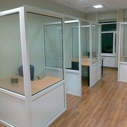 Hindalco White Aluminum Office Cabin