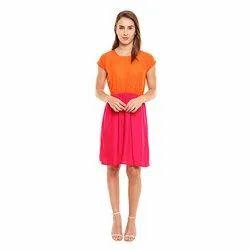 Orange & Pink Kirpa Collection Plain Midi Top