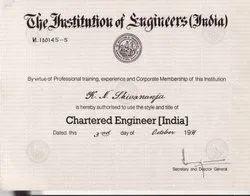 Chartered Engineer & Registered Valuer Services