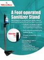 Foot Mounted Sanitizer Stand