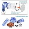 Filtered Shower Head, High Pressure &  Water Saving, Anion Mineral Energy Balls