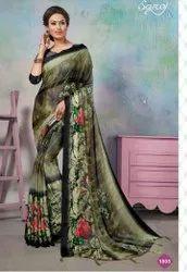 Partywear Designer Brasso Printed Saree