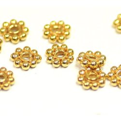 Gold Vermeil Daisy Spacer Beads