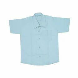 Cotton Plain Boys Half Sleeves School Shirt