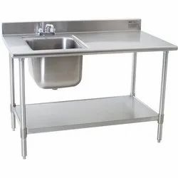 Ss Abid Work Table Sink, Number Of Sinks: 1, Sink Shape: Square,Rectangular