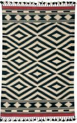 Black Cotton Dhurrie Rug
