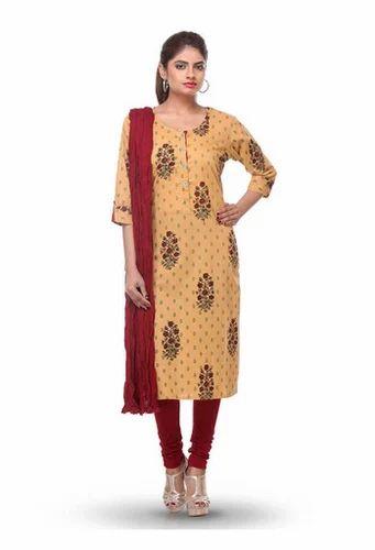 Mustard Printed Cotton Kurti Legging Dupatta Set At Rs 1299 Piece Salawas Road Jodhpur Id 16429813962