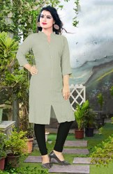 Pr Fashion Launched Beautiful  Plain Readymade Kurti
