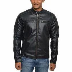 Biker Jacket Black Mens Biker PU Leather Jacket