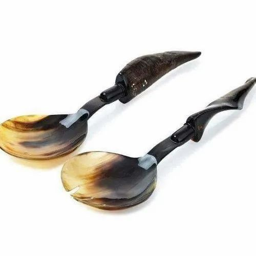 Natural Buffalo Horn Cutlery, For Home, Size: 12ince Length 2.5ince Breth
