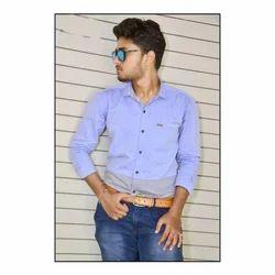 Mens Cotton Party Wear Plain Shirt, Size: S to XL