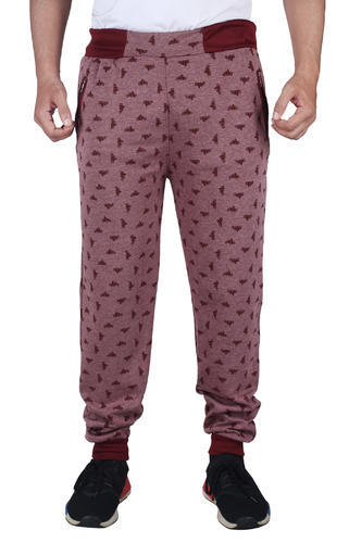 b9a939c3da5 Maroon Polyester Finger  s Men  s Cotton Printed Track Pant