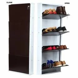 Parasnath White Brown Shoe Den 4 Shelves