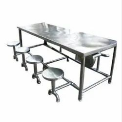 Zeel Silver Stainless Steel Dining Table, For Hotel,Home etc