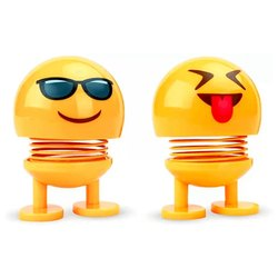 Yellow Big Spring Emoji, For Product For Car Dashboard