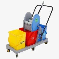 Three Bucket Mopping Trolley