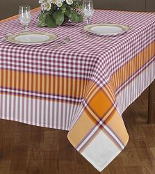 Airwill- Label Cotton Multicolor Table Cover, Size: 140 X 180 cm
