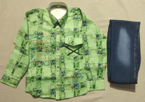 Boys Green Baba Suit