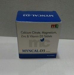 Calcium Citrate, Magnesium, Zinc & Vitamin D3 Tablets