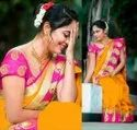 Silk Saree With Banarasi Silk Blouse