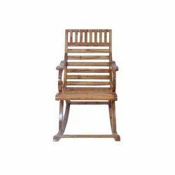 Brown Antique Rocking Chair