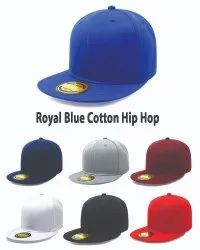 Royal Blue Cotton Hip Hop Caps