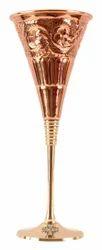 Golden Barware Accessories Copper Designer Cocktail Glass With Brass Stand, Size: 9.2