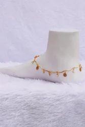 HR Sales Crystal Y2 Ladies Golden Chain Anklet