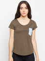 Ladies Cotton Plain T-Shirt