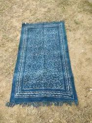 Multicolor Hand Block Printed Cotton Rugs, Size: 3 X 5 Feet