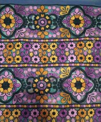Multicolour Fancy Tissue Embroidered Fabric