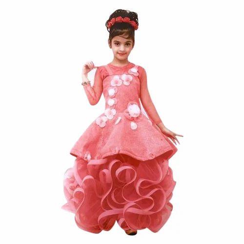 Baby Girls Party Wear Dress, Girls Gowns - Gandhi Products, Delhi ...