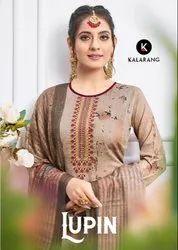 Lupin by Kalarang Jam Silk Designer Embroidery Salwar Kameez