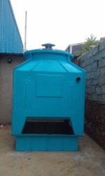 Fiberglass Reinforced Polyester Counter Flow Square Cooling Tower, Capacity: 10 Tr - 500 Tr, Cooling Capacity: 25 Cmh