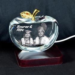 3D Crystal Personalized Gift (3D-Apple-L)