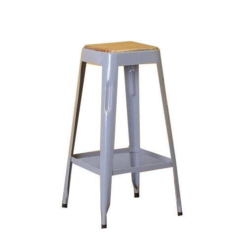 Stupendous 30 Inch Wooden Surface Iron Bar Stool Theyellowbook Wood Chair Design Ideas Theyellowbookinfo
