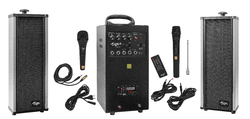 80 Watts Portable System with USB Cordless And 2 External Speaker