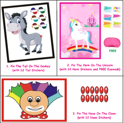Birthday Party Games - Combo of 3 Poster Games