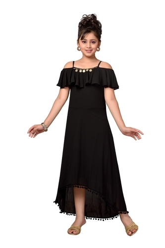 7f6f954f 5 To 13 Years Solid Dresses For Girls, Rs 899 /piece, Ambika ...