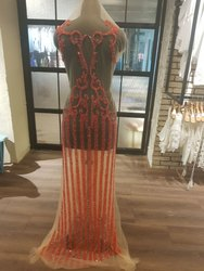 Net Embroidered Bridal Veil