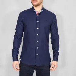 Navy Blue Formal Wear Mens Full Sleeve Plain Shirt