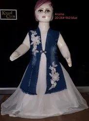 Denim and Organza Kids Indo Western Dress