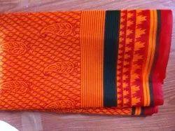 Leaf Printed Bandhani Saree
