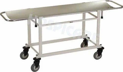 Hospicare Ivory Stretcher On Trolley, Size: L1830 X W530 X H870 Mm, Model Name/Number: 1410-on