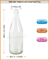 Flint Ketchup Glass Bottle-1000 Gms