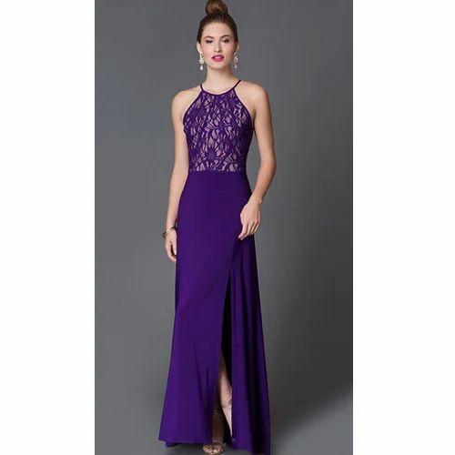 704b1b896dc Purple Plain Girls Party Wear Dresses
