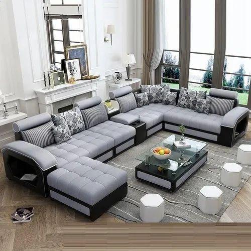 Living Room L Shaped Sofa Set, Living Room L Shaped Sofa
