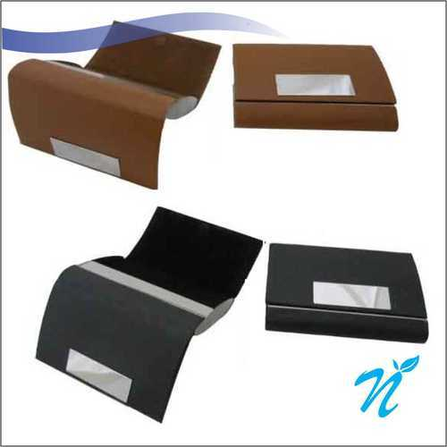 Leatherette Dual Side Opening Visiting Card Holder NIGMMVCH-029, Size/Dimension: 110 X 80 Mm (l X B)